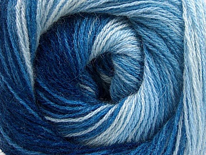 Composition 60% Acrylique, 20% Angora, 20% Laine, Brand ICE, Blue Shades, fnt2-59755