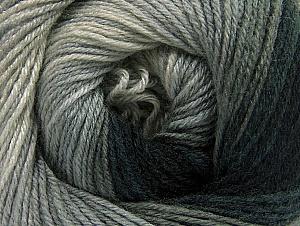 Composition 70% Acrylique, 30% Laine mérinos, Brand ICE, Grey Shades, Black, fnt2-59768