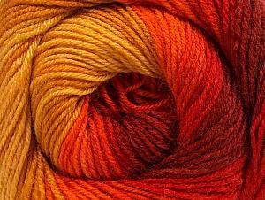 Composition 70% Acrylique, 30% Laine mérinos, Yellow, Red, Orange, Brand ICE, Gold, fnt2-59773