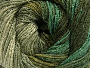 Composition 70% Acrylique, 30% Laine mérinos, Khaki, Brand ICE, Green Shades, fnt2-59774