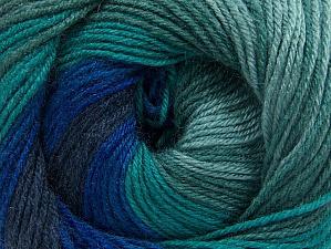 Composition 70% Acrylique, 30% Laine mérinos, Navy, Brand ICE, Green Shades, Blue Shades, fnt2-59776