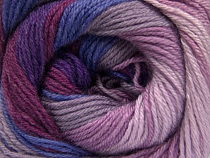 Composition 70% Acrylique, 30% Laine mérinos, Purple, Orchid, Lilac Shades, Brand ICE, fnt2-59777
