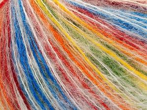 Composition 50% Acrylique, 35% Mohair, 15% Polyamide, Rainbow, Brand ICE, fnt2-59845