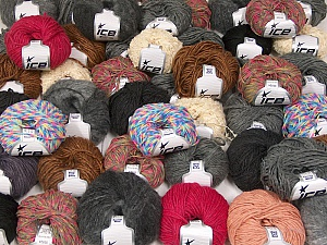 Winter Yarns This mixed lot includes a total of 2000 gr (70.5 oz.) yarn. There is no standard for ball weight. Also disregard any information on the labels. You will get what you see in the photo. Brand ICE, fnt2-59869