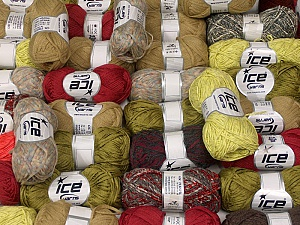 Summer Yarns This mixed lot includes a total of 2000 gr (70.5 oz.) yarn. There is no standard for ball weight. Also disregard any information on the labels. You will get what you see in the photo. Brand ICE, fnt2-59894
