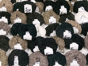 Chenille Types This mixed lot includes a total of 2000 gr (70.5 oz.) yarn. There is no standard for ball weight. Also disregard any information on the labels. You will get what you see in the photo. Brand ICE, fnt2-59946