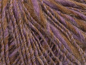 Composition 40% Acrylique, 35% Laine, 25% Alpaga, Lilac, Light Brown, Brand ICE, Yarn Thickness 3 Light  DK, Light, Worsted, fnt2-60079