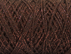Composition 90% Coton, 10% Métallique Lurex, Brand ICE, Copper, Brown, Yarn Thickness 4 Medium  Worsted, Afghan, Aran, fnt2-60135