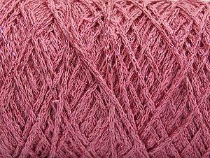 Composition 90% Coton, 10% Métallique Lurex, Light Pink, Brand ICE, Yarn Thickness 4 Medium  Worsted, Afghan, Aran, fnt2-60139