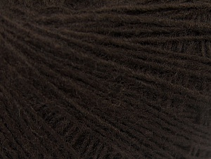 Composition 50% Laine, 50% Acrylique, Brand ICE, Dark Brown, Yarn Thickness 2 Fine  Sport, Baby, fnt2-60180