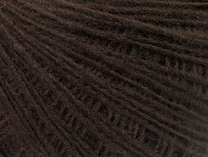 Composition 50% Laine, 50% Acrylique, Brand ICE, Dark Brown, Yarn Thickness 2 Fine  Sport, Baby, fnt2-60197