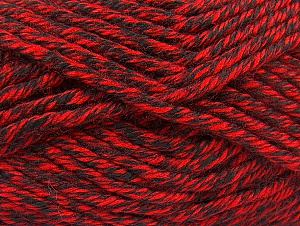 Composition 100% Acrylique, Red, Brand ICE, Black, Yarn Thickness 6 SuperBulky  Bulky, Roving, fnt2-60218