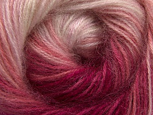 Composition 60% Acrylique haut de gamme, 20% Angora, 20% Laine, White, Pink Shades, Brand ICE, Yarn Thickness 2 Fine  Sport, Baby, fnt2-60235