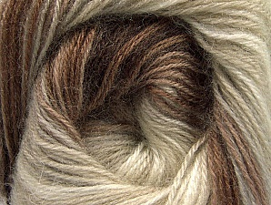 Composition 60% Acrylique haut de gamme, 20% Angora, 20% Laine, Brand ICE, Cream, Brown Shades, Beige, Yarn Thickness 2 Fine  Sport, Baby, fnt2-60238