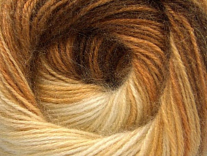 Composition 60% Acrylique haut de gamme, 20% Angora, 20% Laine, Brand ICE, Cream, Brown Shades, Yarn Thickness 2 Fine  Sport, Baby, fnt2-60239