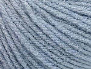 Composition 100% Laine mérinos, Light Blue, Brand ICE, Yarn Thickness 4 Medium  Worsted, Afghan, Aran, fnt2-60244