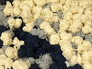 Peru Alpaca Leftover This mixed lot includes about 100 hanks of Peru Alpaca leftover yarns. There is no standard for fiber content and weight. The total weight is 2000 gr (70.5 oz.). Composition 50% Laine mérinos, 25% Alpaga, 25% Acrylique, Brand ICE, fnt2-60313