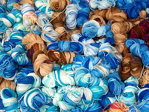Magic Light Leftover This lot consists of about 100 hanks of Magic Light leftover yarn. The total weight is 2000 gr (70.5 oz.). Composition 100% Acrylique, Brand ICE, fnt2-60384