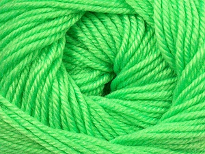 Fiber Content 60% Premium Acrylic, 40% Merino Wool, Brand ICE, Fluorescent Green, Yarn Thickness 2 Fine  Sport, Baby, fnt2-35566
