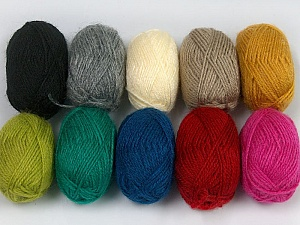 Please note that lengths are not equal for each lot. Composition 100% Acrylique, Brand Ice Yarns, Dark Colors, Yarn Thickness 1 SuperFine  Sock, Fingering, Baby, fnt2-42181