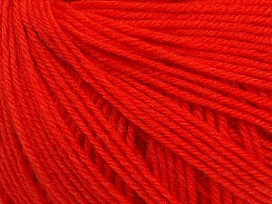 SUPERWASH WOOL is a DK weight 100% superwash wool yarn. Perfect stitch definition, and a soft-but-sturdy finished fabric. Projects knit and crocheted in SUPERWASH WOOL are machine washable! Lay flat to dry. Fiber Content 100% Superwash Wool, Tomato Red, Brand ICE, Yarn Thickness 3 Light  DK, Light, Worsted, fnt2-42939