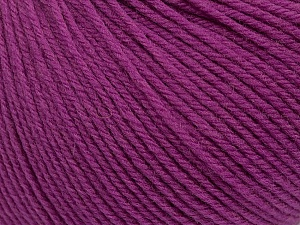 SUPERWASH WOOL is a DK weight 100% superwash wool yarn. Perfect stitch definition, and a soft-but-sturdy finished fabric. Projects knit and crocheted in SUPERWASH WOOL are machine washable! Lay flat to dry. Fiber Content 100% Superwash Wool, Purple, Brand ICE, Yarn Thickness 3 Light  DK, Light, Worsted, fnt2-42944