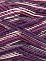 Fiber Content 50% Superwash Merino Wool, 25% Bamboo, 25% Polyamide, Purple Shades, Brand Ice Yarns, Yarn Thickness 1 SuperFine  Sock, Fingering, Baby, fnt2-52390