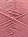 Baby cotton is a 100% premium giza cotton yarn exclusively made as a baby yarn. It is anti-bacterial and machine washable! Fiber Content 100% Giza Cotton, Rose Pink, Brand ICE, Yarn Thickness 3 Light  DK, Light, Worsted, fnt2-53074