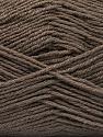 Fiber Content 55% Virgin Wool, 5% Cashmere, 40% Acrylic, Brand ICE, Dark Camel, Yarn Thickness 2 Fine  Sport, Baby, fnt2-53927