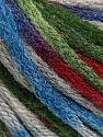 Fiber Content 50% Acrylic, 50% Wool, Brand ICE, Grey, Green, Burgundy, Blue, Yarn Thickness 6 SuperBulky  Bulky, Roving, fnt2-54767