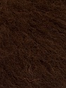 Knitted as 4 ply Fiber Content 40% Polyamide, 30% Kid Mohair, 30% Acrylic, Brand ICE, Dark Brown, Yarn Thickness 1 SuperFine  Sock, Fingering, Baby, fnt2-56517