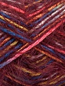 Composition 55% Acrylique, 45% Polyamide, Yellow, Pink, Brand ICE, Burgundy, Blue, Yarn Thickness 4 Medium  Worsted, Afghan, Aran, fnt2-57883
