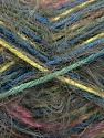 Composition 55% Acrylique, 45% Polyamide, Yellow, Pink, Khaki, Brand ICE, Blue, Yarn Thickness 4 Medium  Worsted, Afghan, Aran, fnt2-57885