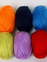 Please note that lengths are not equal for each lot. Composition 100% Acrylique, Multicolor, Brand ICE, Yarn Thickness 1 SuperFine  Sock, Fingering, Baby, fnt2-58073