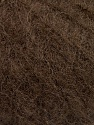 Knitted as 4 ply Composition 40% Polyamide, 30% Kid Mohair, 30% Acrylique, Brand ICE, Dark Brown, Yarn Thickness 1 SuperFine  Sock, Fingering, Baby, fnt2-58074
