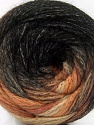 Composition 90% Acrylique, 10% Polyamide, Brand ICE, Brown Shades, Black, Yarn Thickness 4 Medium  Worsted, Afghan, Aran, fnt2-58125