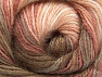 Composition 50% Acrylique, 50% Mohair, White, Salmon Shades, Brand ICE, Brown Shades, fnt2-58358