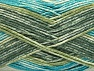 Composition 50% Acrylique haut de gamme, 50% Coton, Turquoise, Brand ICE, Green Shades, Yarn Thickness 2 Fine  Sport, Baby, fnt2-58414