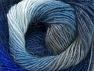 Composition 60% Acrylique haut de gamme, 20% Alpaga, 20% Laine, Brand ICE, Grey, Blue Shades, Yarn Thickness 2 Fine  Sport, Baby, fnt2-58420